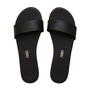 Aritzia Tkees Alex Slide Sandals in Black